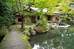 Isuitei tea house at Hashimoto Memorial Gardens in Kyoto