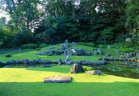 garden of Manpukuji Temple, Shimane prefecture